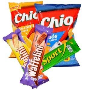 Édesség, csokoládé, nasi